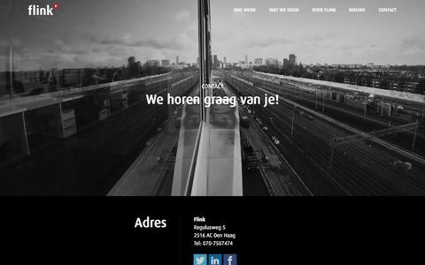 Screenshot of Contact Page flink.nl - Flink | Adres, contact, route en parkeerinformatie - captured Aug. 3, 2015