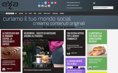 Screenshot of Home Page Press Page eyla.it - Eyla - gestione social network - Bologna, Italy   news & curiosity Eyla - le notizie che piacciono a noi - captured Oct. 3, 2014