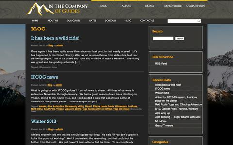 Screenshot of Blog inthecompanyofguides.com - In The Company of Guides - captured Sept. 30, 2014