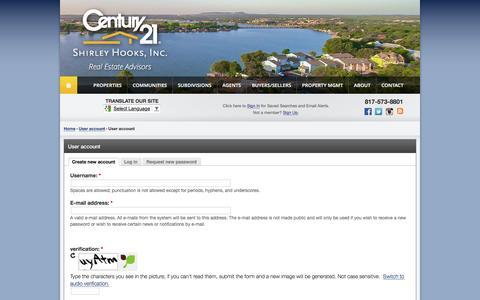 Screenshot of Signup Page century21shooks.com - User account | CENTURY 21 Shirley Hooks, Inc. - captured April 16, 2017
