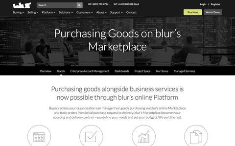 Purchasing Goods | blur 6.0 | blur Group