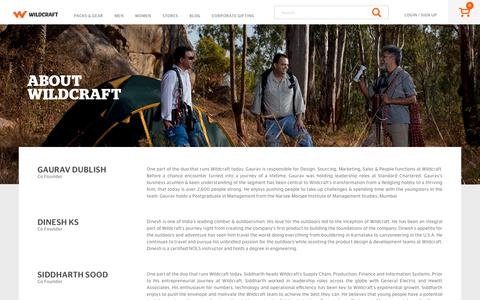 Screenshot of About Page wildcraft.in - About Us - captured Nov. 2, 2017