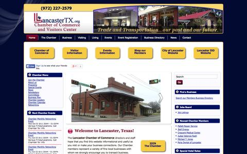 Screenshot of Press Page lancastertexas.org - News - Lancaster Chamber of Commerce and Visitors Center - captured Oct. 2, 2014