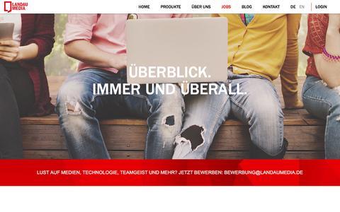 Screenshot of Jobs Page landaumedia.de - Landau Media |    Jobs - captured Sept. 22, 2018
