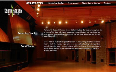 Screenshot of Home Page soundkitchen.com - Sound Kitchen | Nashville Recording Studio & Events Facility - captured Oct. 24, 2017