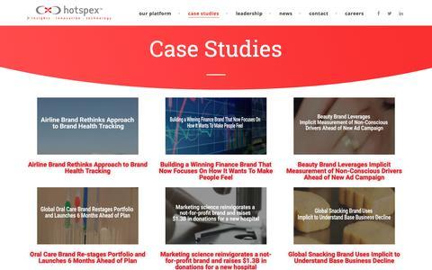 Screenshot of Case Studies Page hotspex.com - CaseStudies - Hotspex, Inc. - captured Oct. 21, 2018