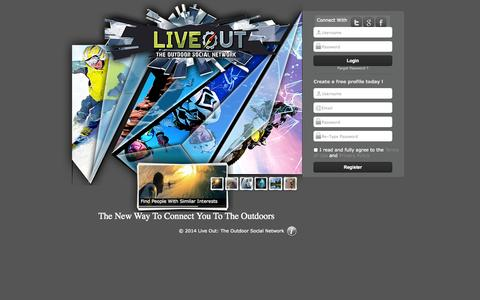 Screenshot of Signup Page liveout.org - LiveOut - captured Oct. 2, 2014