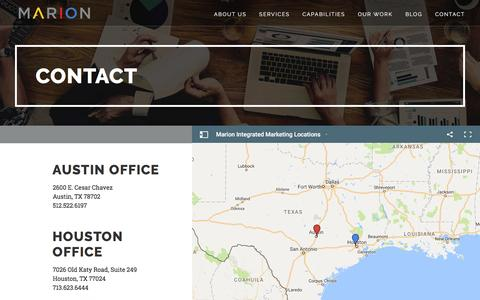 Contact - MARION Integrated Marketing