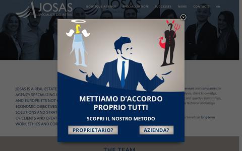 Screenshot of Jobs Page Team Page josasimmobiliare.com - Josas Boutique agency - captured Oct. 20, 2018