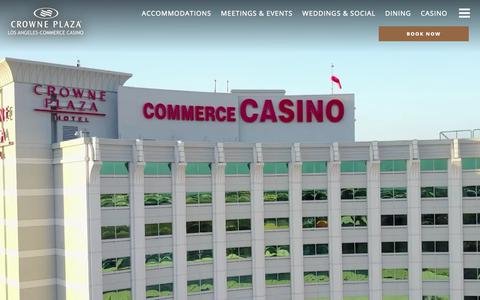 Screenshot of Home Page cpccla.com - Crowne Plaza Commerce Hotel & Casino - Luxury Los Angeles Hotel - captured Sept. 30, 2018