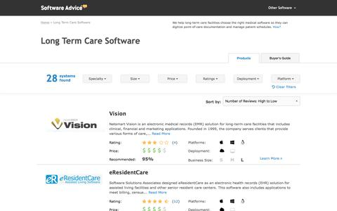 Best Long Term Care Software - 2017 Reviews & Pricing
