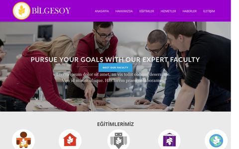 Screenshot of Home Page bilgesoy.com - Bilgesoy Akademi - captured Sept. 6, 2015
