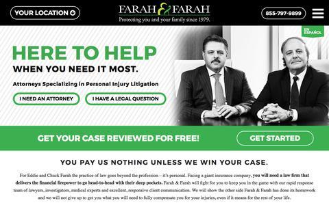 Screenshot of Home Page farahandfarah.com - Jacksonville FL Personal Injury Attorneys | Farah & Farah - captured Oct. 13, 2017