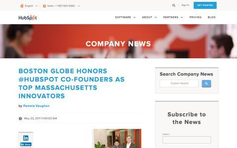 Screenshot of Press Page hubspot.com - HubSpot Company and Product Blog | Company News - captured Sept. 7, 2017