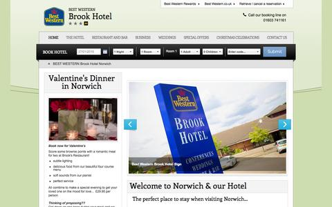 Screenshot of Home Page bw-brookhotel.co.uk - Section home page - captured Jan. 23, 2015