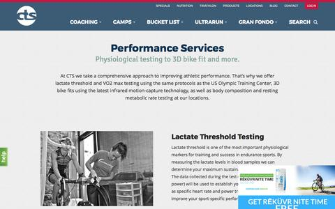 Screenshot of Services Page trainright.com - Services - CTS - captured March 8, 2017