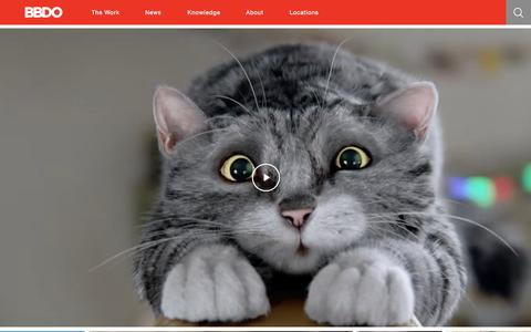 Screenshot of Home Page bbdo.com - BBDO Worldwide - captured Nov. 19, 2015