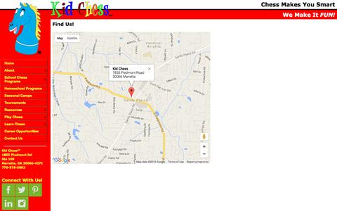 Screenshot of Maps & Directions Page kidchess.com - Chess Place Atlanta - Find Us - captured Dec. 5, 2015