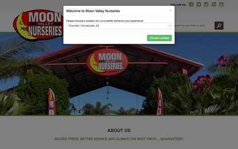 Screenshot of About Page moonvalleynurseries.com - About Us |Moon Valley Nurseries - captured Aug. 15, 2016