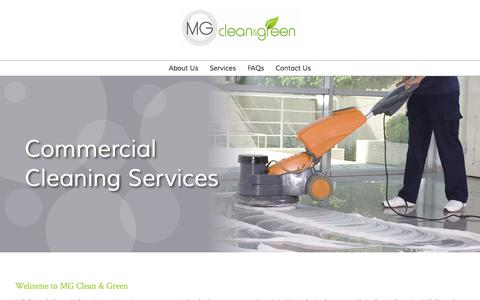 Screenshot of Home Page mgcleangreen.com - MG Clean & Green - captured June 17, 2015
