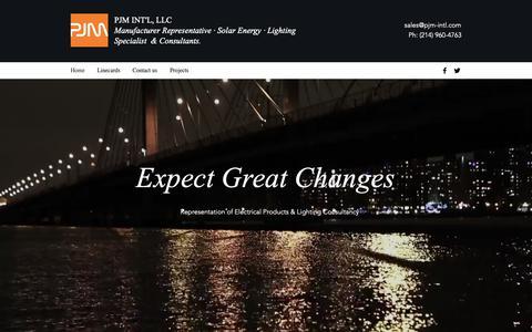 Screenshot of Home Page pjm-intl.com - HOME / PJM Int'l, LLC / MANUFACTURER REPRESENTATIVE - captured Sept. 26, 2018