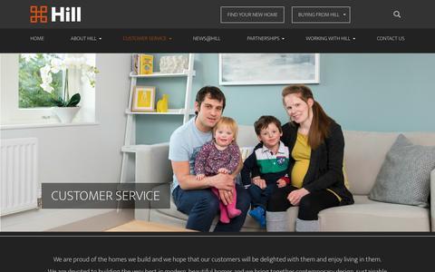 Screenshot of Support Page hill.co.uk - Customer Service - Hill - captured Nov. 9, 2016