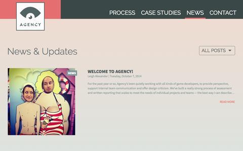 Screenshot of Press Page agencyforgames.com - News   Agency - captured Nov. 2, 2014