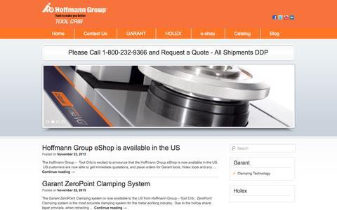 Screenshot of Blog hoffmanngroupusa.com - Hoffmann Group | Garant | Holex - captured Oct. 3, 2014