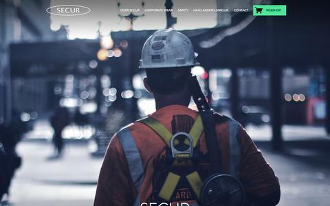 Screenshot of Home Page secur.nl - Secur | Geeft richting aan gezond en veilig werken - captured Sept. 2, 2015