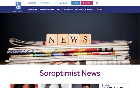 Screenshot of Press Page soroptimist.org - Soroptimist International of the Americas, Inc. - captured Sept. 23, 2018