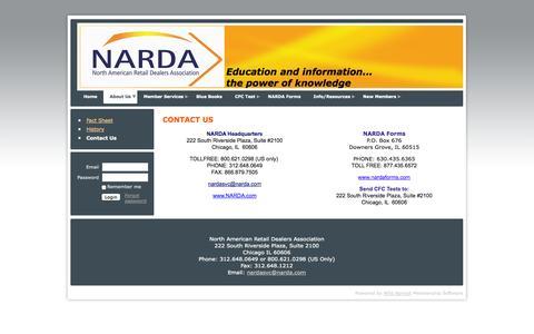 Screenshot of Contact Page narda.com - NARDA - Contact Us - captured Oct. 7, 2014
