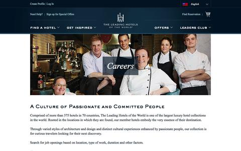 Screenshot of Jobs Page lhw.com - Careers : Leading Hotels of the World - captured Nov. 21, 2016