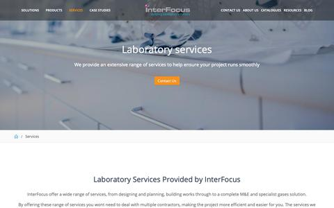 Screenshot of Services Page mynewlab.com - Laboratory Services | Interfocus - captured Dec. 19, 2018