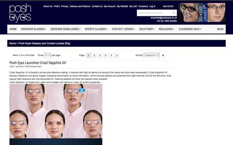 Screenshot of Blog posheyes.co.uk - Posh Eyes Glasses and Contact Lenses Blog - captured July 13, 2018