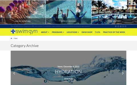 Screenshot of Press Page swimgym.net - News | SWIM GYM - captured Feb. 22, 2016