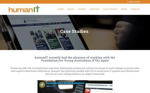 Screenshot of Case Studies Page humanit.com.au - Case Studies and Client Testimonials   humanIT   Managed IT Services - captured Jan. 17, 2020