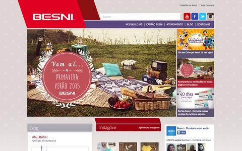 Screenshot of Home Page besni.com.br - Besni | Combina com você - captured Oct. 3, 2014