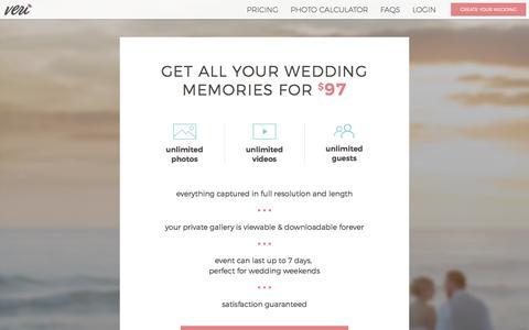 Screenshot of Pricing Page veri.com - Veri | Pricing - captured Sept. 27, 2016