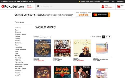 World Music - Rakuten.com