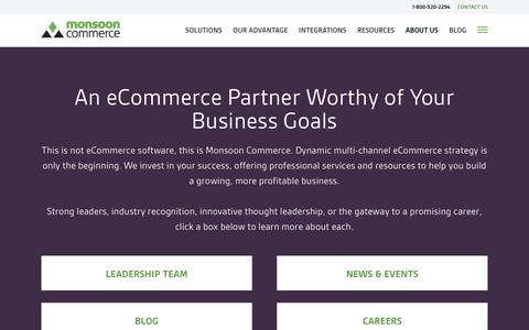 Screenshot of About Page monsooncommerce.com - About Us | Monsoon Commerce - captured Jan. 21, 2016