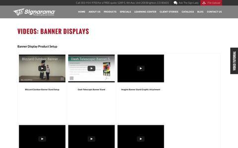 Videos: Banner Displays | Signarama Colorado