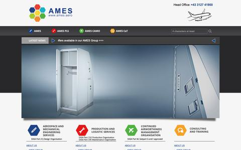 Screenshot of Site Map Page ames.aero - Sitemap - AMES - captured Oct. 2, 2018