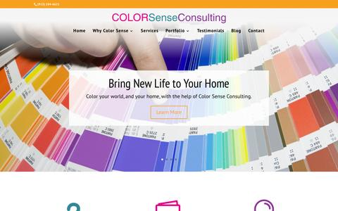 Screenshot of Home Page colorsenseconsulting.com - Your Local Color Consultant in the Kansas City Metro - captured Jan. 29, 2016