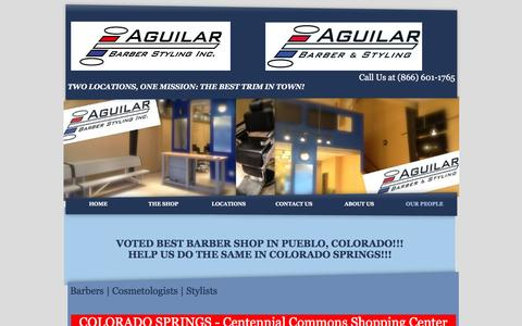Screenshot of Team Page aguilarbarberstyling.com - Barber & Beauty Services, Flat Tops, Fades, Shaves & More - captured Feb. 4, 2016