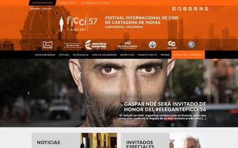 Screenshot of Home Page ficcifestival.com - Festival Internacional de Cine de Cartagena de Indias- FICCI - captured Nov. 25, 2016