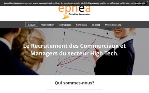 Screenshot of Home Page ephea.fr - Ephea - captured July 17, 2015