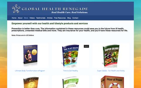 Screenshot of Products Page globalhealthrenegade.com - Store Ń Global Health Renegade - captured Dec. 10, 2015