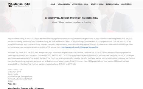 Starlim India: 200-Hour Yoga Teacher Training in Rishikesh
