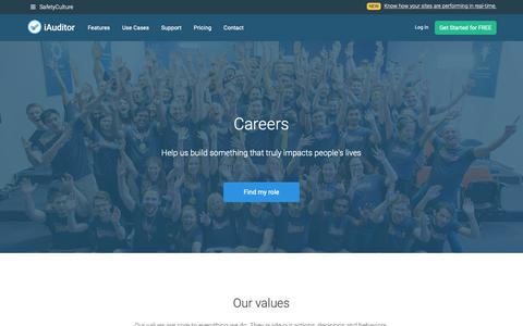 Screenshot of Jobs Page safetyculture.com - Careers   SafetyCulture - captured Oct. 25, 2018