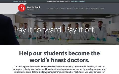 Screenshot of Jobs Page medschooltutors.com - Jobs at Med School Tutors - captured Jan. 17, 2016